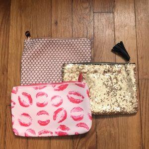 Ipsy 3 set of bags